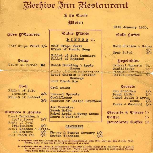 1950s Menus Google Search Vintage Menus Pinterest Menu