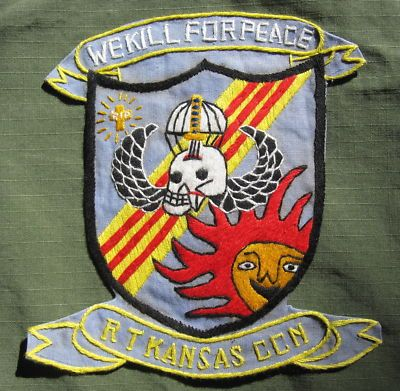 """handmade US Special Forces SOG Recon Team """"Kansas"""" CCN profile / pocket patch"""