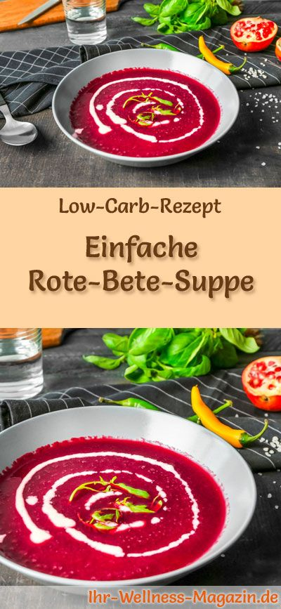 Einfache Low Carb Rote-Bete-Suppe – gesundes, schnelles Rezept