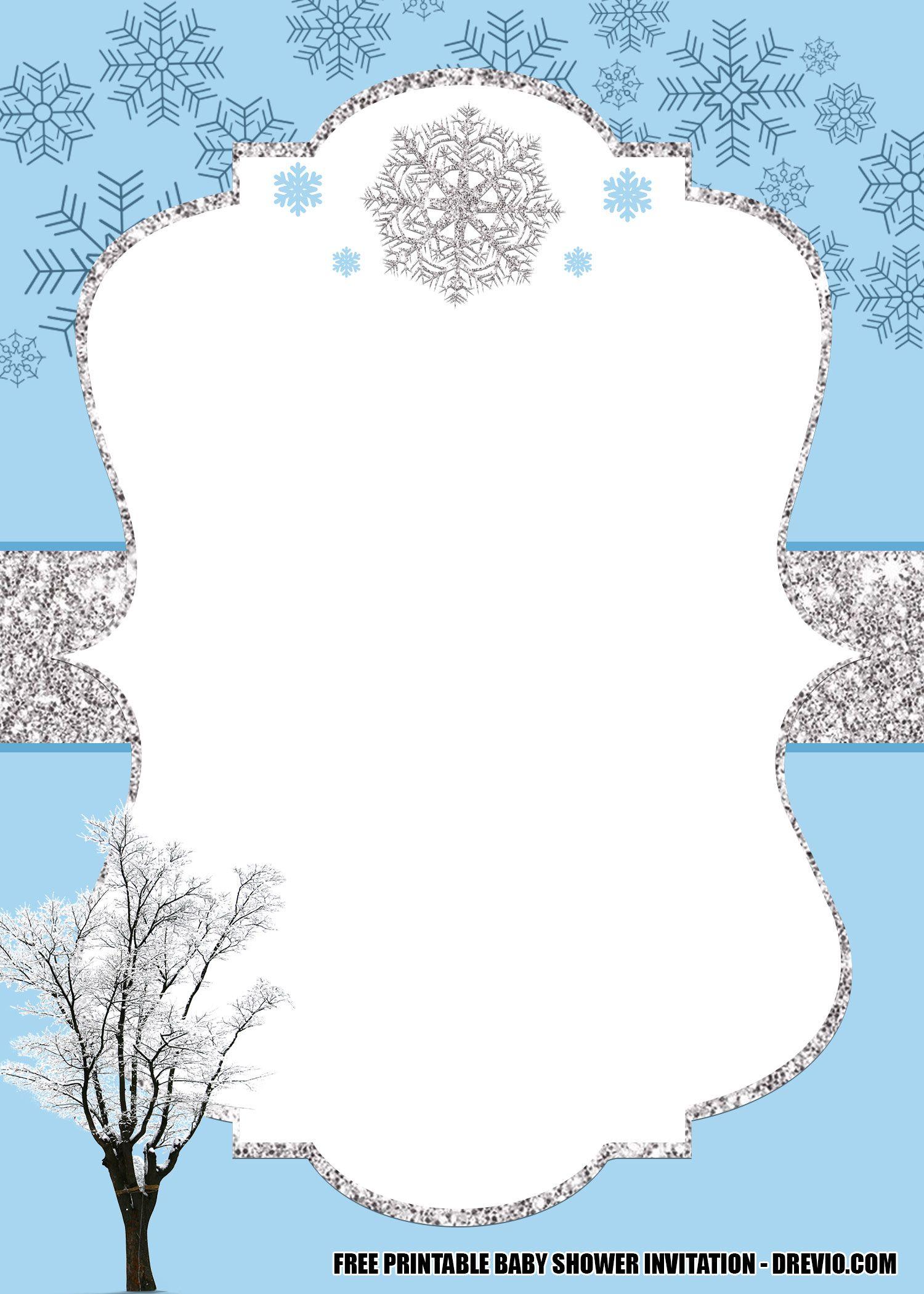 Free Winter Wonderland Baby Shower Invitation Templates Editable Drevio In 2020 Winter Wonderland Invitations Wonderland Invitation Winter Wonderland Baby Shower