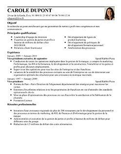 Selectionner Un Modele Cv Parfait Exemple Cv Le Cv
