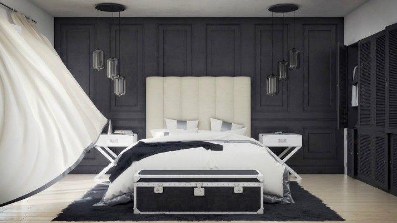 10 Schwarz-Weiß-Schlafzimmer Ideen Schlafzimmer Design 2018 - schlafzimmer ideen weis modern