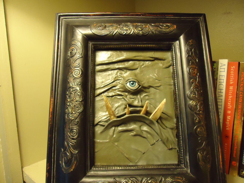3D Leather Wall Art Monster Picture OOAK Handmade ChristmasGift LARP ...