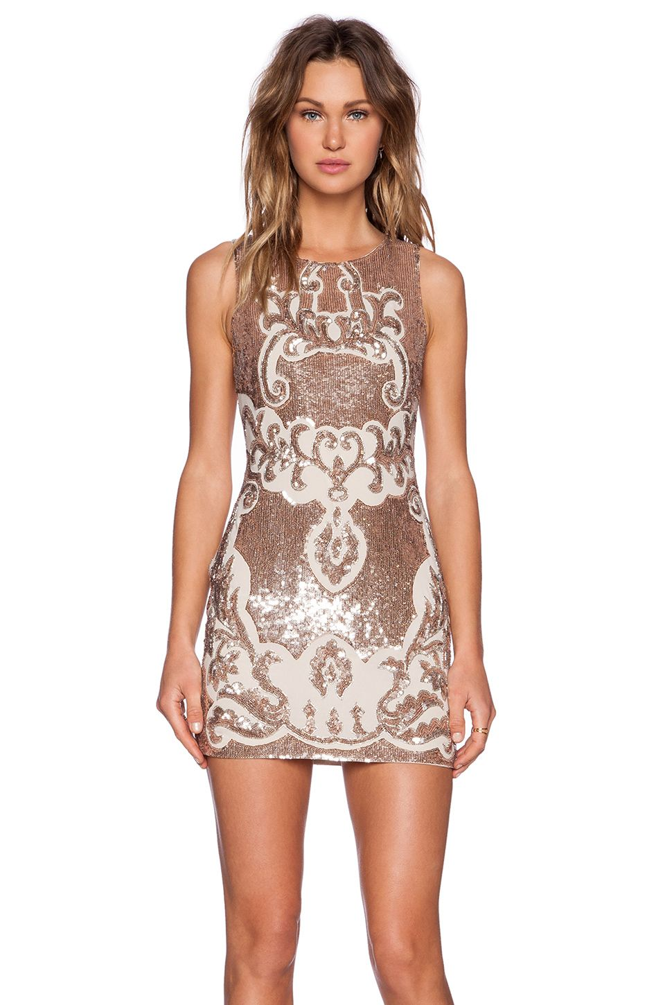 80f52e8bf52a Needle & Thread Motif Sequin Dress in Rose Bronze | REVOLVE | My ...