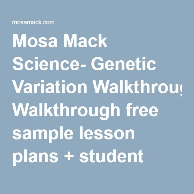 Mosa Mack Science Genetic Variation Walkthrough Free Sample Lesson