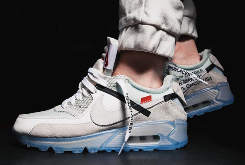 new style 955a9 dbd43 OFF-WHITE x Nike Air Max 90 ICE