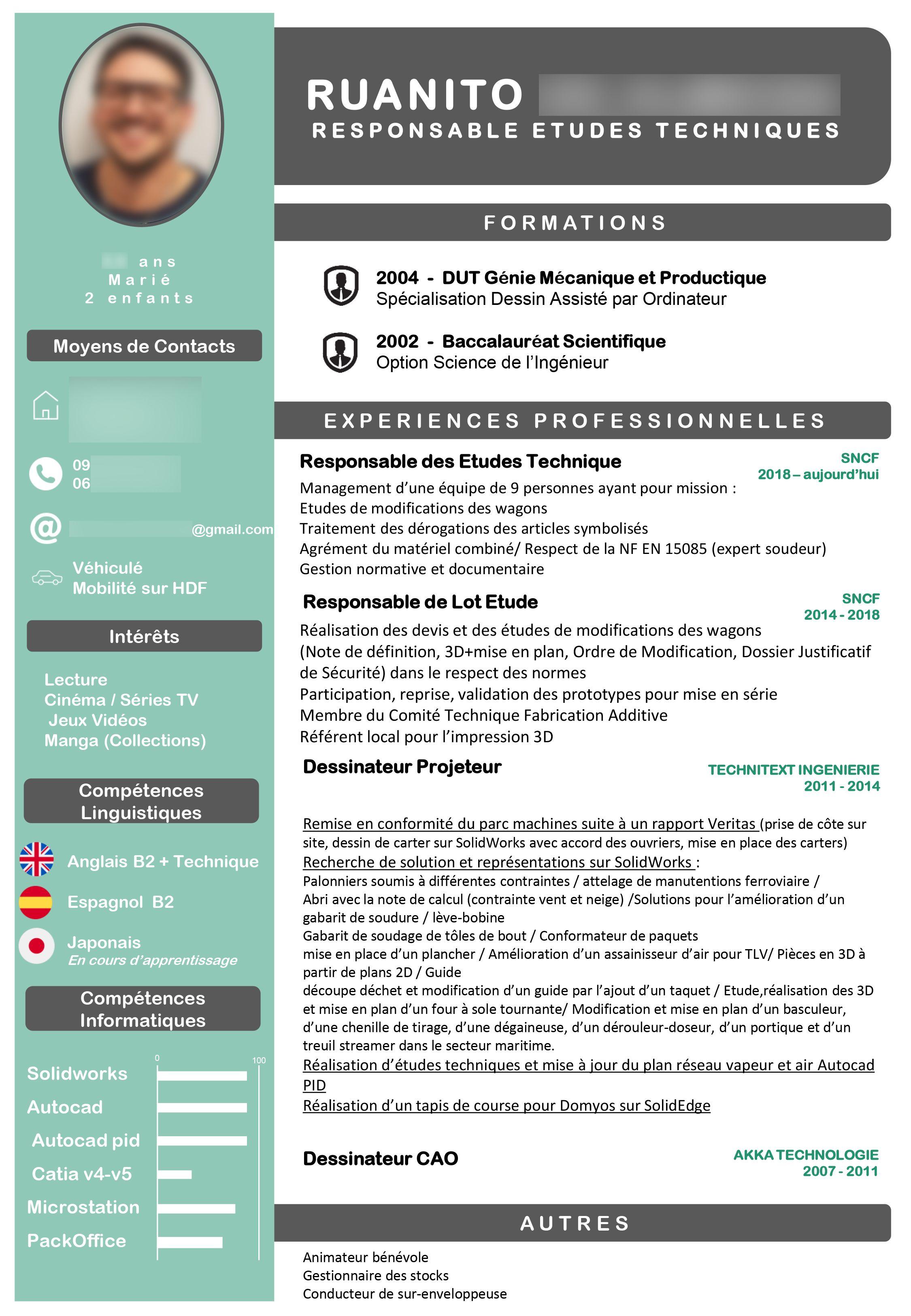 Cv Professionnel Documents Administratifs Genie Mecanique Cv Professionnel