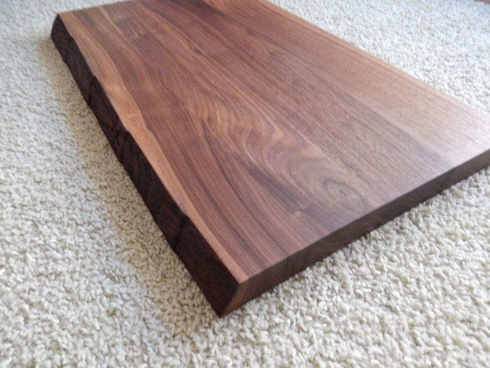 Tischplatte holz natur  Details zu Tischplatte Platte Nussbaum Massiv Holz mit Baumkante ...
