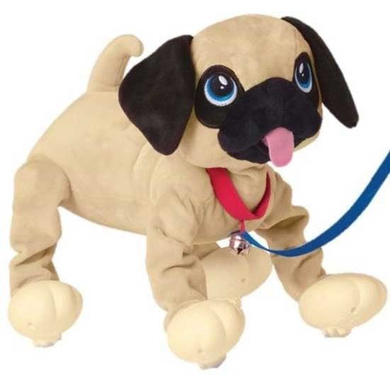 Peppy Pups Pug Bouncy Walking Action Plush Interactive Puppy Dog
