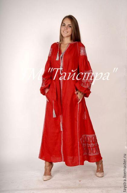 Платья ручной работы. Вышитое платье бохо 90cd8cd207d00