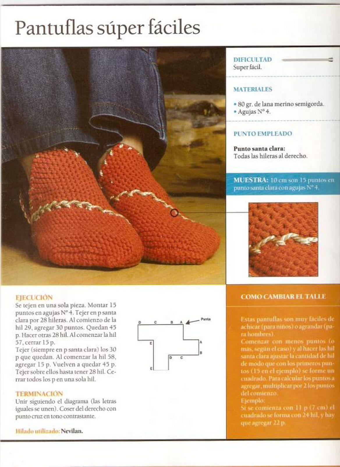 Como hacer unas Zapatillas con 3 tiras de Crochet - Patrones Crochet ...