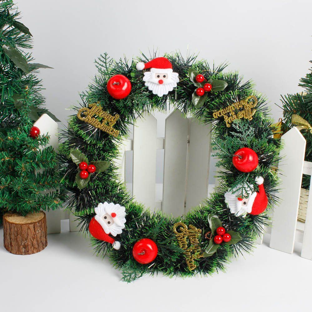 Yezijin Christmas Wreath Garlands Diy Merry Christmas Wreath 14inch Garland Window Door De Christmas Wreaths Garlands Christmas Decorations Christmas Wreaths