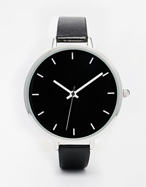 ASOS Sleek Monochrome Large Face Watch