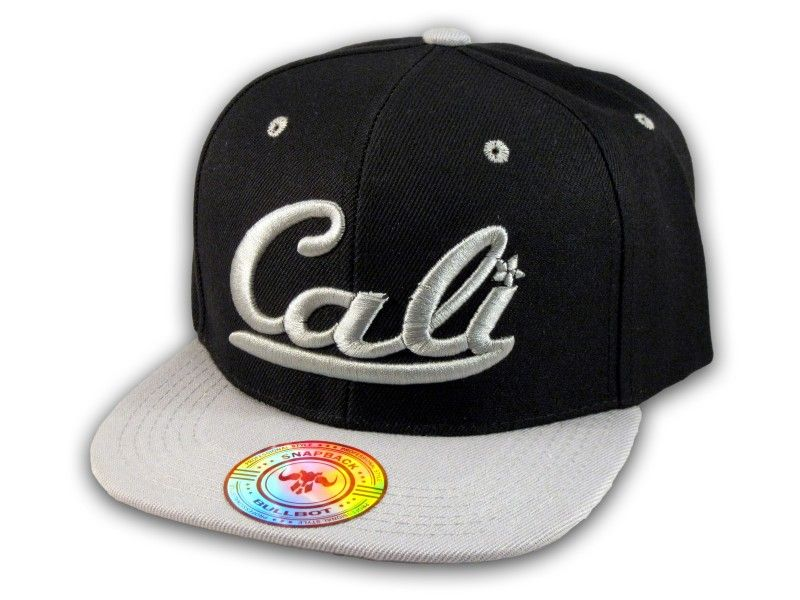 736c3629a0f This is a High Quality Black and Gray California Republic Baseball Cap! It s  an adjustable Snapback with Flat Brim Visor