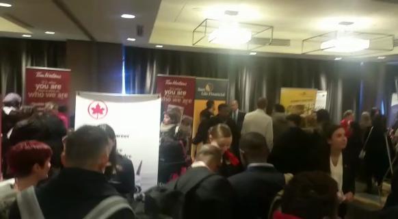 Many job seekers are attending the Calgary Job Fair at