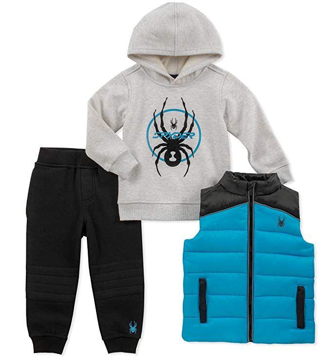 f72df9455 Spyder Boys  Toddler 3 Pieces Vest Set