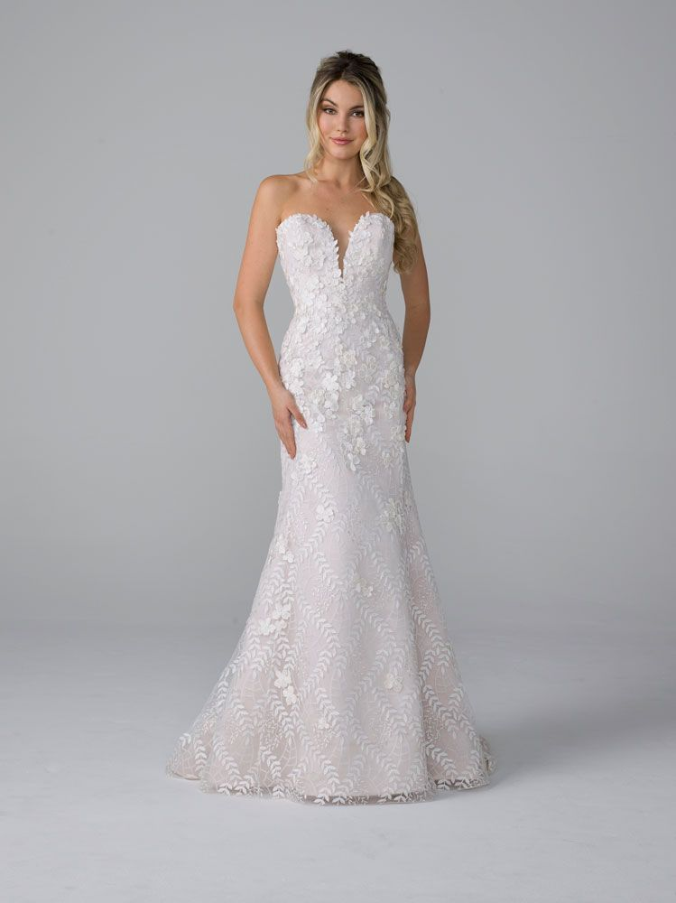 Azul By Liancarlo Style 19106 Sofia 2019 Bridal Collection Strapless Lace Wedding Dress Wedding Dresses Wedding Dresses Lace
