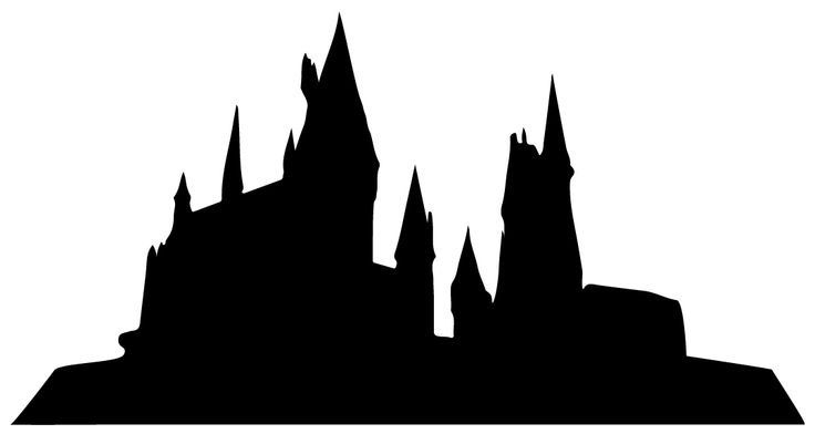 castle cut out template - hogwarts silhouette potter templates pinterest