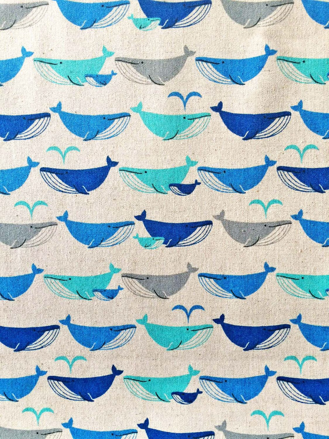 Whale fabric cute whales blue whales gray whale for Cute baby fabric prints