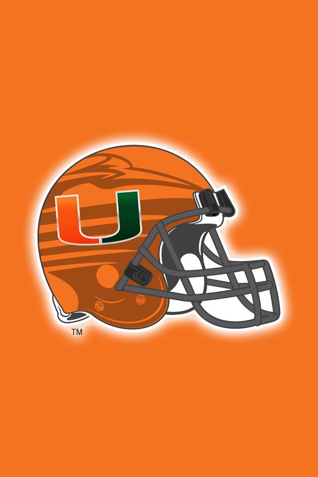 Get A Set Of 12 Officially Ncaa Licensed Miami Hurricanes Iphone Wallpapers Sized Precisely For Any Mode Hurricanes Football Team Colors College Football Teams
