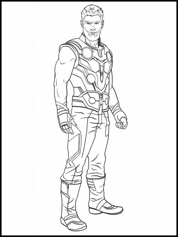 Avengers: Endgame Printable Coloring Pages 35 in 2020 | Superhero coloring pages, Superhero ...