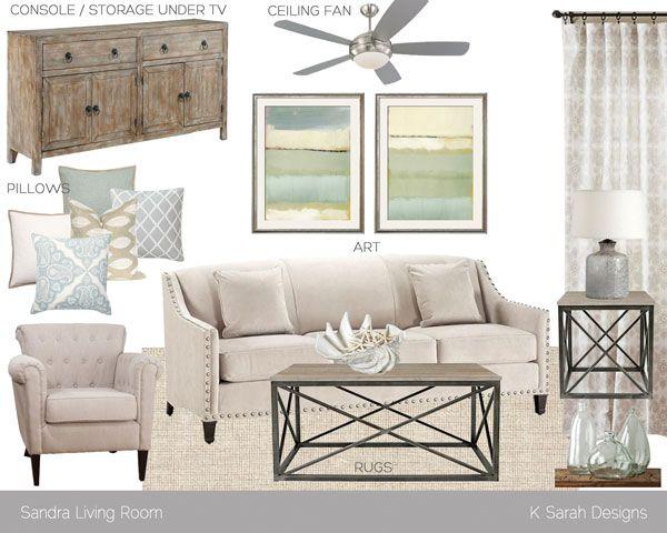 Mood Board // Sandrau0027s Elegant + Calming Retreat. MaritimWohnzimmer WohnzimmerentwürfeWohnzimmer ...