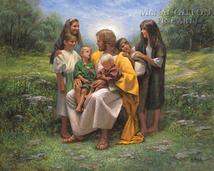 Religious Gallery - Religious - He Loves Me Too - McNaughton Fine Art Company