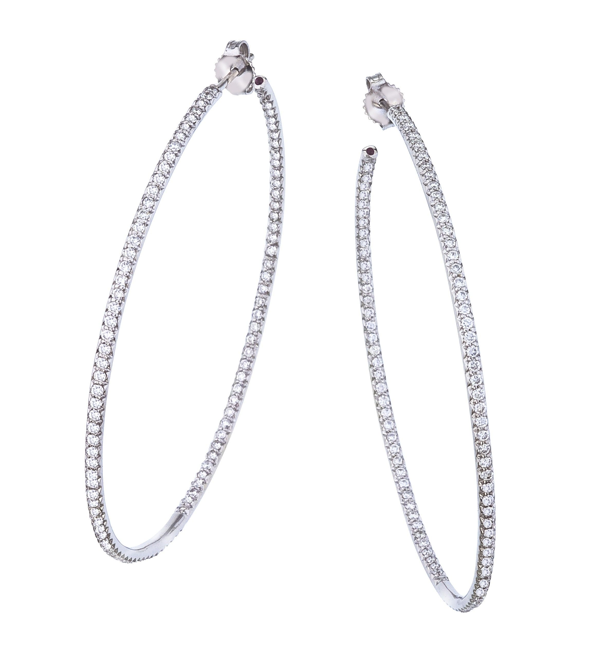 Diamond Collection X Large Hoop Earrings 55mm Roberto Coin