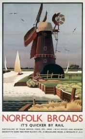 1930/'s LNER Norfolk Broads Railway Poster A4//A3//A2//A1 Print