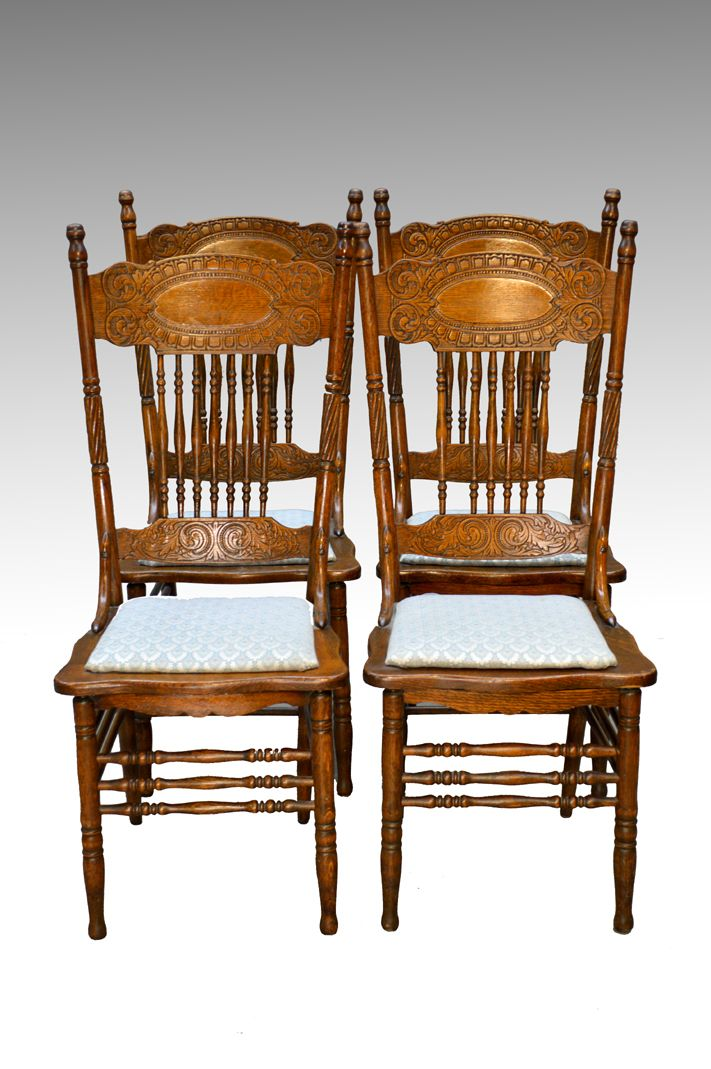 SOLD Antique Set of 4 Larkin #1 Press Back Chairs | Antique furniture,  Antique dining rooms and Dining chairs - SOLD Antique Set Of 4 Larkin #1 Press Back Chairs Antique