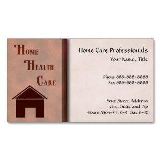 Home Health Care Business Cards Home Business Opportunities