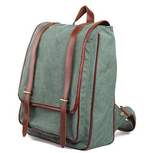 iBaste Rucksack Backpack for Teens Rucksack Canvas Camera Case Bag Shoulder Backpack Travel Hiking Bag School Bag Vintage DSLR Daypack (Lake... - Click image twice for more info - See a larger selection of Girls teen  backpacks at http://kidsbackpackstore.com/product-category/teen-girls-backpacks/ - kids, juniors, back to school, kids fashion ideas, teens fashion ideas,  school supplies, backpack, bag , teenagers,  boys, gift ideas