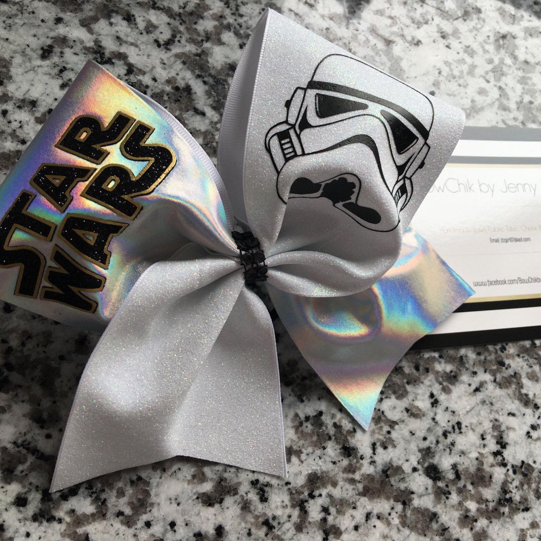 Star Wars Storm Trooper cheer bow by BowChikbyJennyShaw on Etsy ...