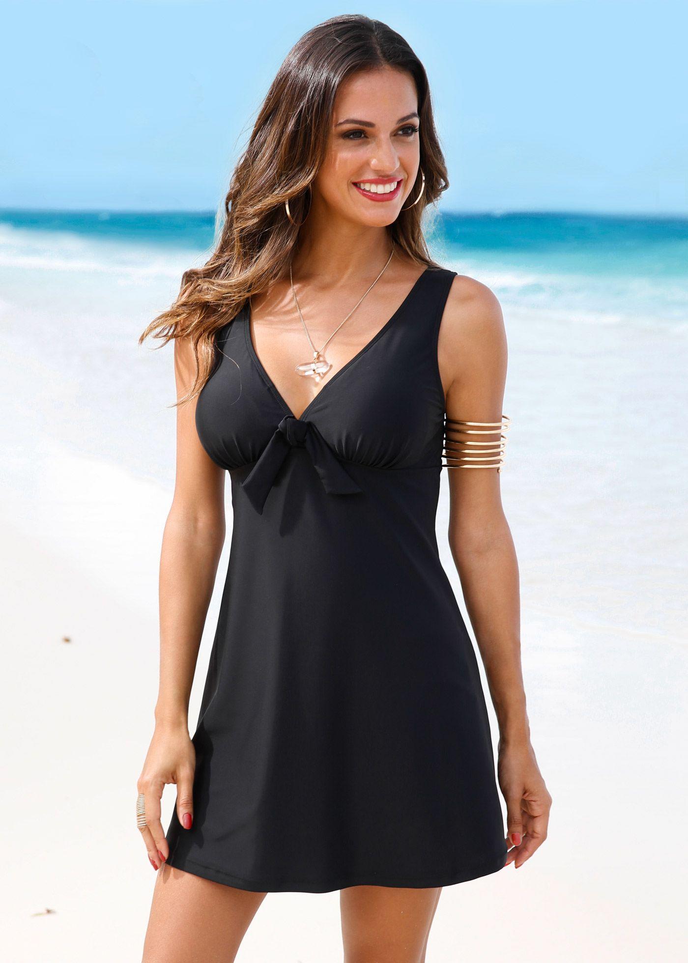Badpak Met Cut Outs.Badpakjurk Anything Swim Dress Dresses Swim Skirt
