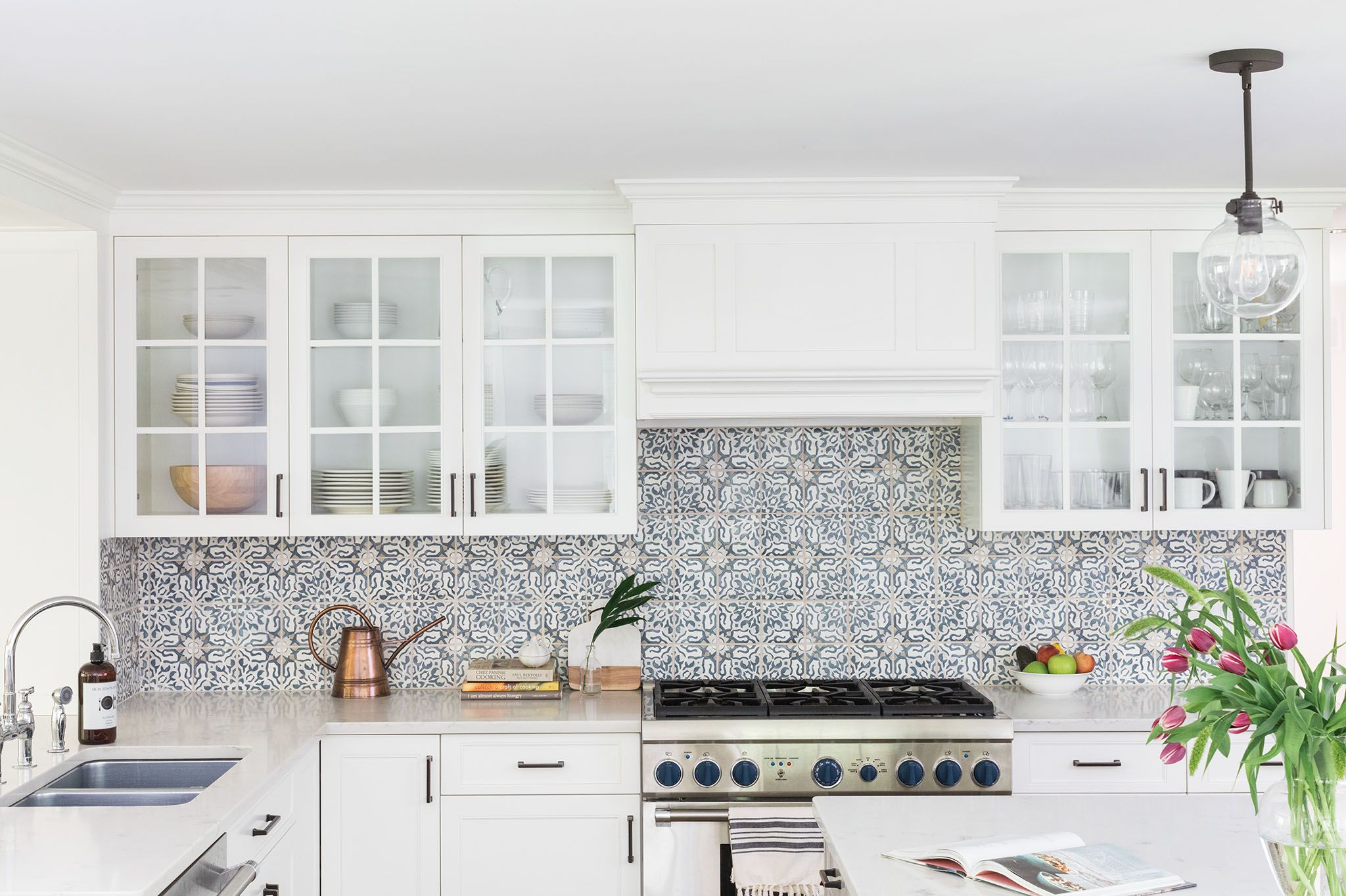 These moroccan style backsplash tiles create a statement making kitchen we love it