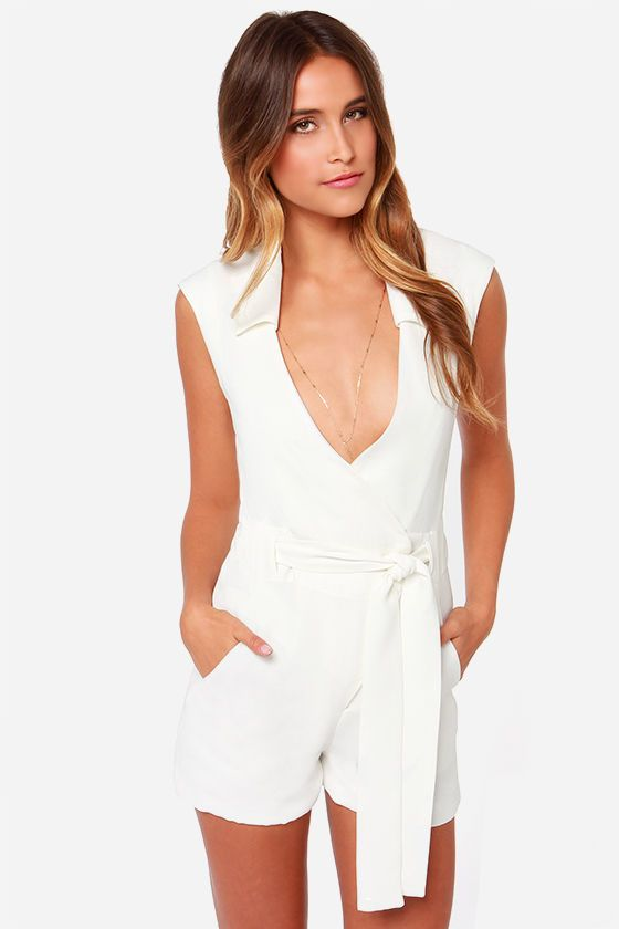 Sexy white rompers
