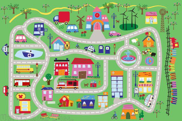 Town Rugs For Kids Google Search Play Rug Kids Rugs