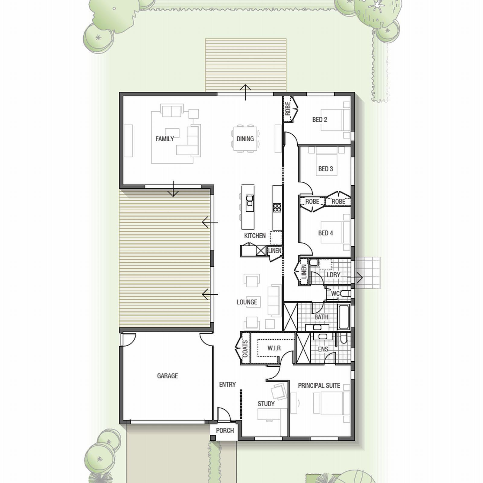 Ensuite badezimmerdesignpläne designed for comfortable family living this spacious single storey