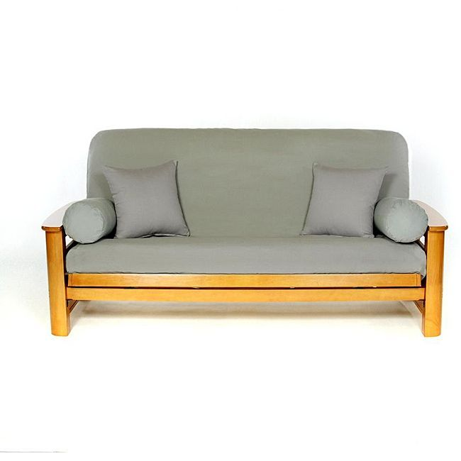 Cover Your Full Size Futon Stylishly With This Comfortable Cotton Futon Cover This Slip Resistant Cover Features Futon Covers Futon Slipcover Full Size Futon