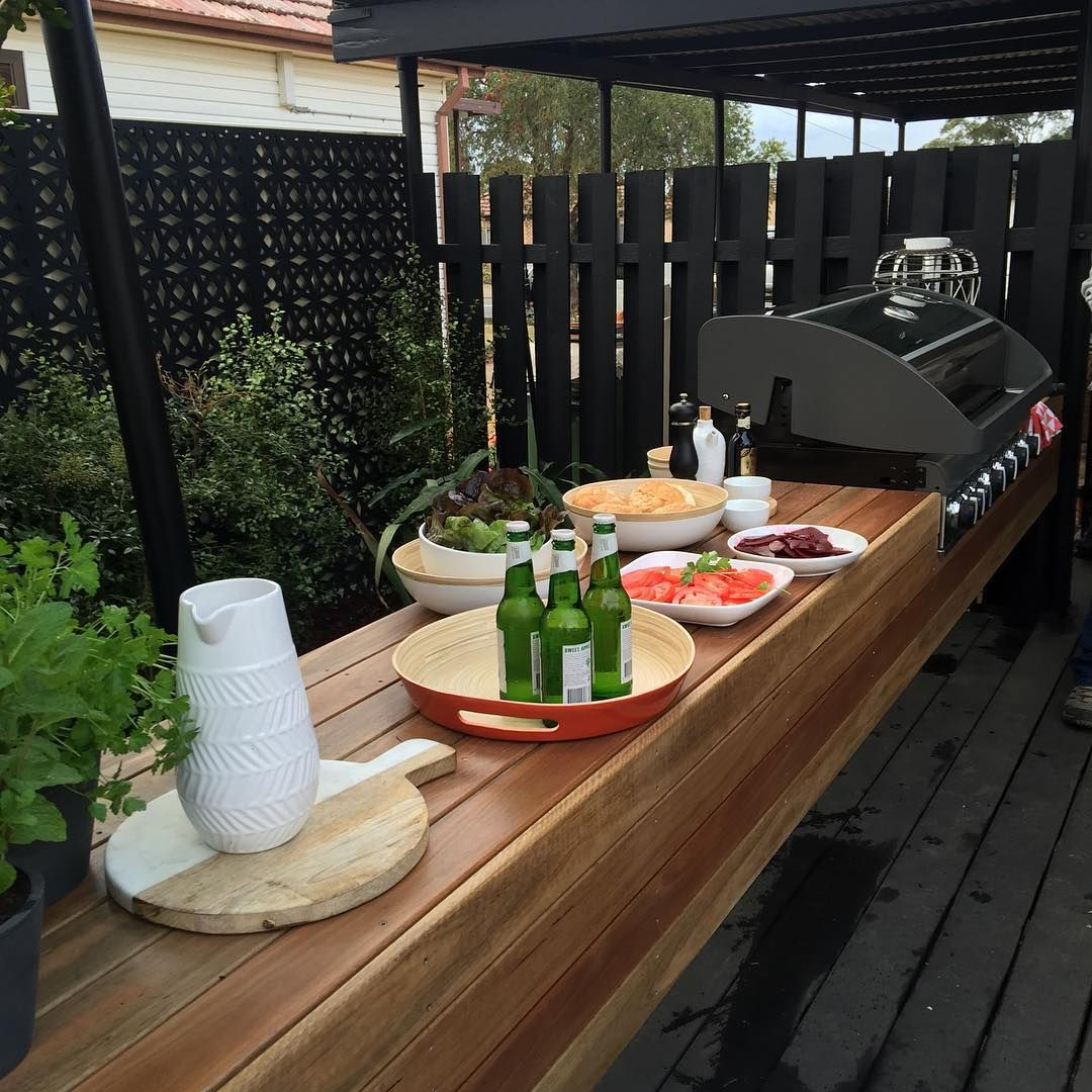 Astounding Floating Bbq Bench And Prep Area How Good Does The Spotted Pdpeps Interior Chair Design Pdpepsorg