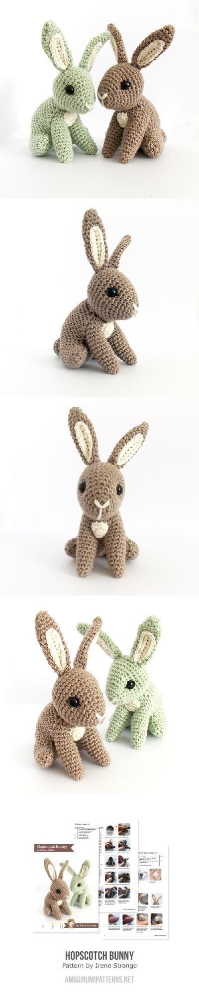 Hopscotch Bunny Found at Amigurumipatterns...   Amigurumis   Croché ...