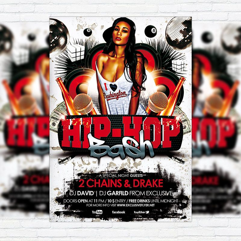 HipHop Flyer Template TO DOWNLOAD PSD TEMPLATE CLICK HERE\u2026 Flickr