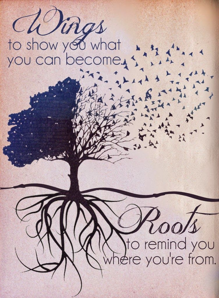 Wings to show you what you can become...Roots to remind you ...