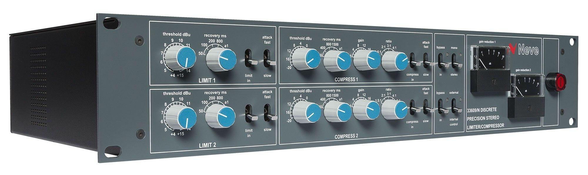 AMS Neve 33609 N Discrete Dual / stereo compressor limiter - The Neve 33609  Stereo Compressor offers comprehen… | Stereo, Digital dj, Loudspeaker  management systems