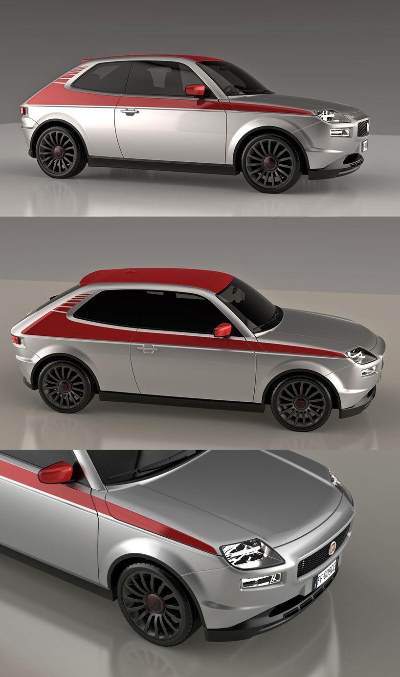Fiat 127 Sport Abarth Concept By David Obendorfer Con Immagini