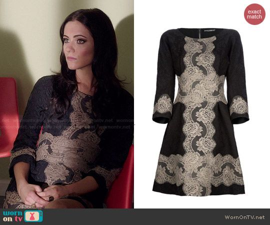 Princess Eleanor's black and nude lace dress on The Royals. Outfit Details: http://wornontv.net/47648/ #TheRoyals