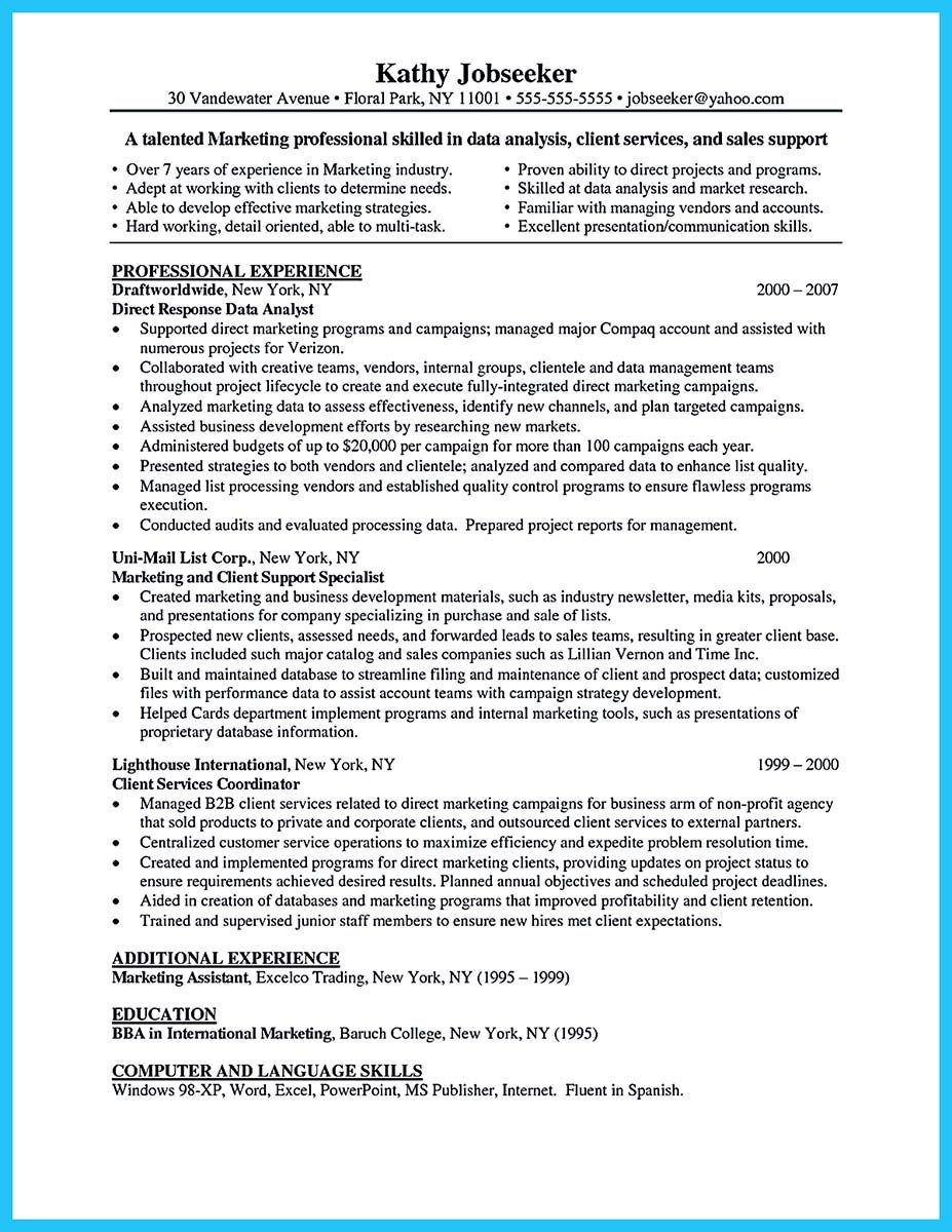 cool High Quality Data Analyst Resume Sample from Professionals ...