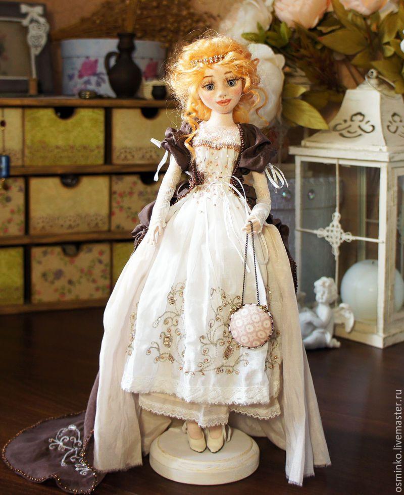 Купить Изабель - коричневый, наталья осминко, кукла ручной работы, коллекционная кукла, авторская кукла
