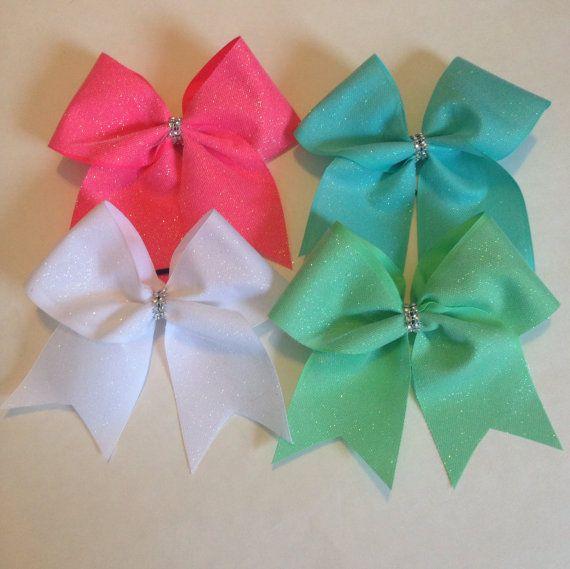 Glitter maximum stiff Cheer bow by MyBowality on Etsy