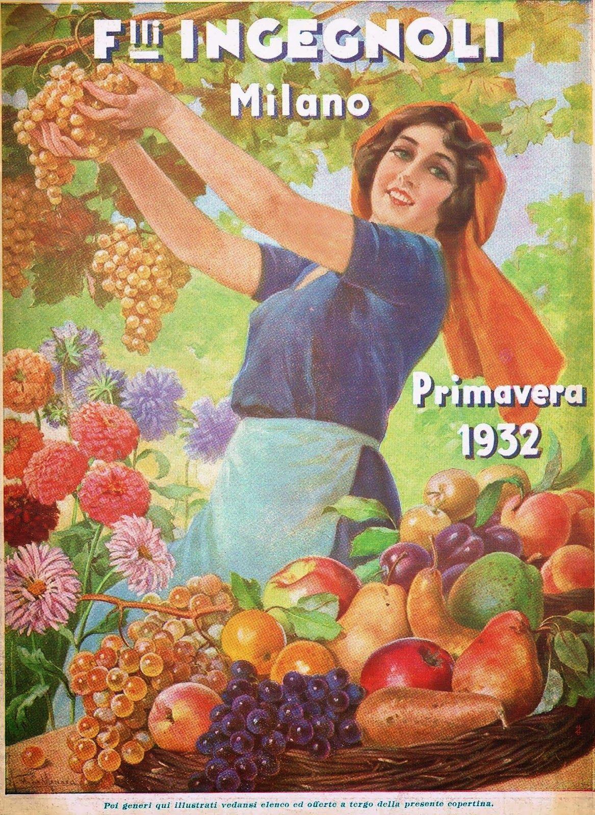 "Portada del catálogo del vivero italiano Flli. Ingegnoli de 1932 ""Primavera 1932"""